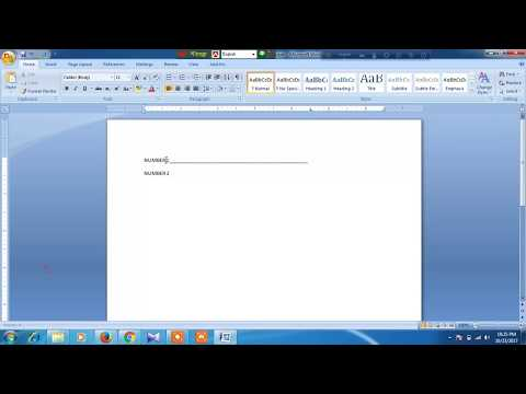 How to draw a straight line by using Tab in microsoft word