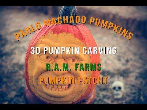 Paulo Machado 3D Pumpkin Carving - R.A.M. Farms Pumpkin Patch