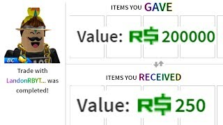GIVING A ROBLOX YOUTUBER AN EXPENSIVE ITEM! *200K*