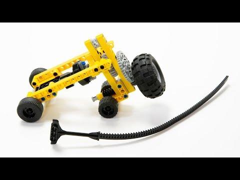 Flywheel Car using a Ninjago Airjitzu Flyer Handle : LEGO Technic