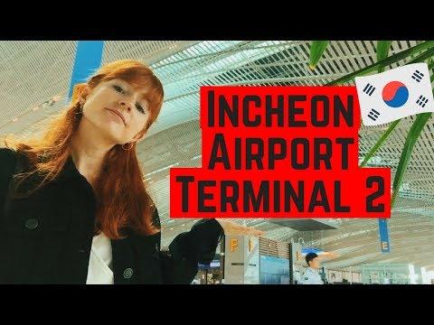 Incheon Airport Terminal 2 Mini Tour | How To Use The Free Shuttle Bus in Seoul, Korea