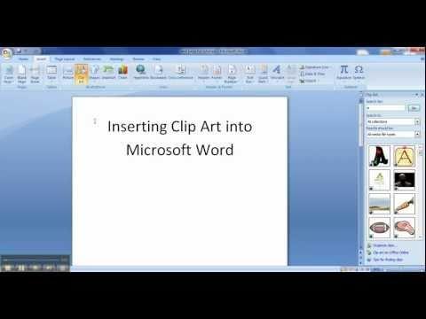 Insert Clip Art into Word