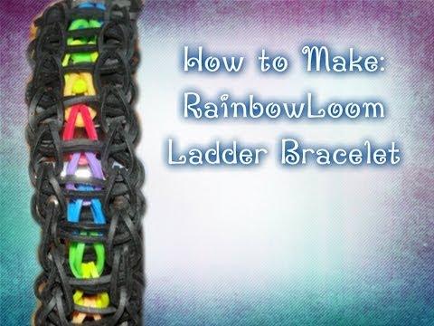 Rainbow Loom Ladder Bracelet Tutorial ~Medium~ LoomLyfe♥♥♥