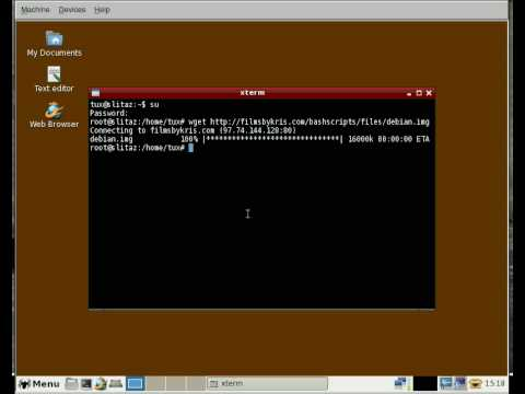 BASH Lesson install Debian (Linux) with out having to burn another CD