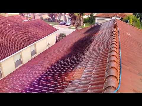Barrel Tile Roof Cleaning in Hillsborough County