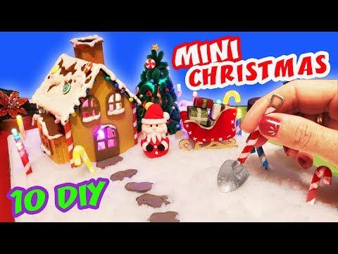 10 DIY MINIATURE CHRISTMAS - How to make a miniature WINTER ZEN GARDEN | aPasos Crafts DIY