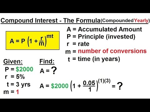 Business Math - Finance Math (3 of 30) Compound Interest - The Formula (Compounded Yearly)
