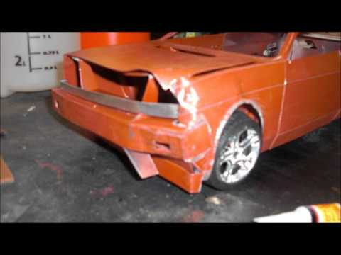 RUSTING MODEL CARS scrap car  SALT CHIPPING