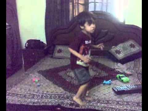 little sarim arain dancing and reading ABCD 1