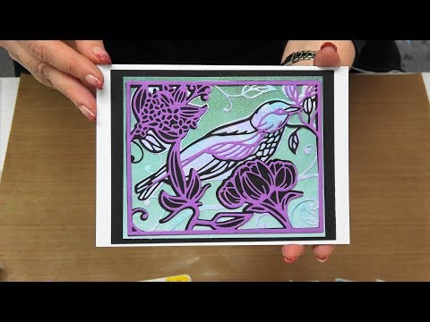 #251 Learn to use a Gel Press with Stamps, Embossing Folders & Die Cuts by Scrapbooking Made Simple
