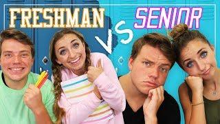 Reality of FRESHMAN vs SENIOR Year in High School!