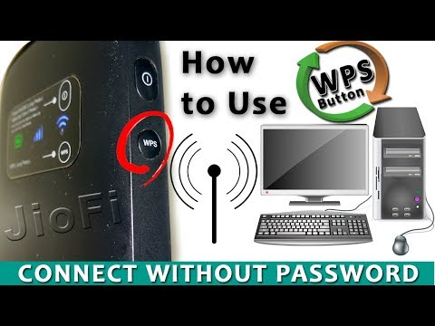 Jio-Fi Hotspot Connect Without Password Your PC/Laptop Using WPS Button
