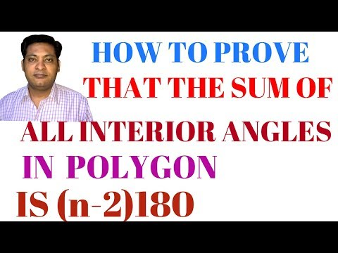 SUM OF ALL INTERIOR ANGLES IN A POLYGON IS (n- 2)180 degree important theorem for class 8 and 9