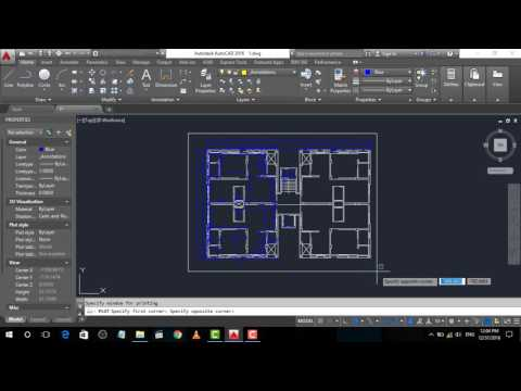 AutoCAD tutorial: How to print a drawing
