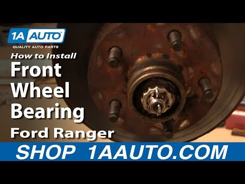 How To Replace Front Wheel Bearing 93-97 Ford Ranger 2WD Part 1 1AAuto.com