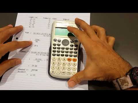Calculating Mean, Variance and Standard Deviation Using 570 ES Plus Calculator