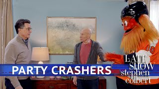 Download Colbert Throws A Super Bowl Party Video