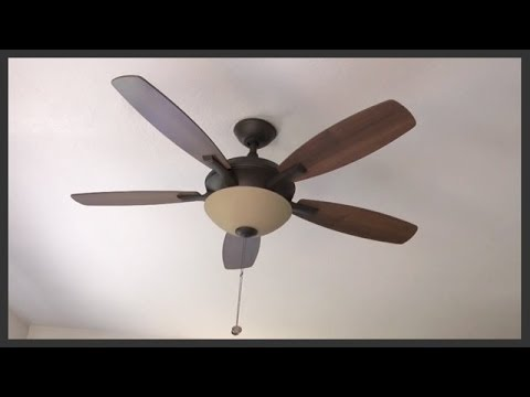 How to assemble & install a ceiling fan with light kit