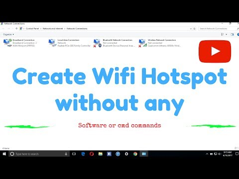 How to create Wifi hotspot (without any software or CMD commands) ᴴᴰ