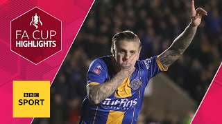 Shrewsbury stun Liverpool with late comeback | FA Cup Fourth Round | BBC Sport