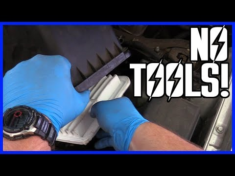 How to Replace the Air Filter Toyota Highlander V6 2001-2007 - NO TOOLS NEEDED