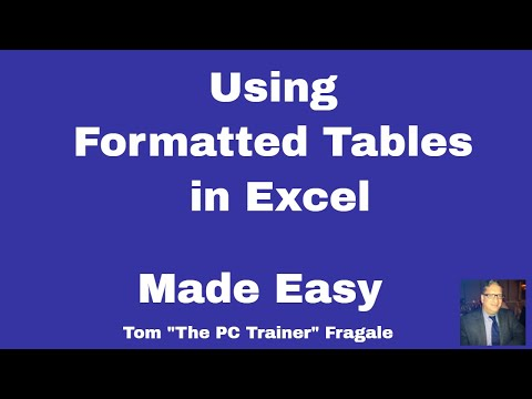 Excel Formatted Table - How to create a use a formatted table in Excel 2016 2013 2010 tutorial