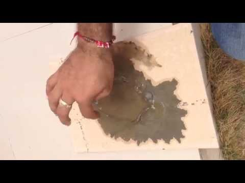 Cement Stain Test for Water Proof Engobe Ceramic Wall Tiles