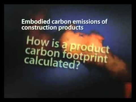 NBS Embodied carbon emissions of construction products