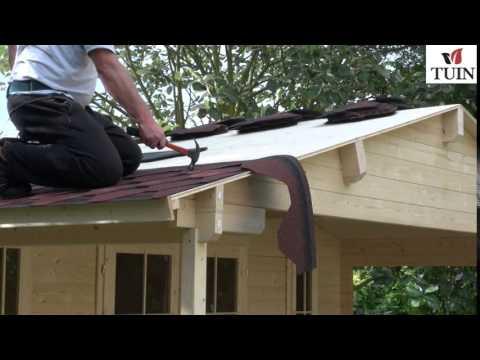 Tuin - Fitting Felt Shingles Apex Roof