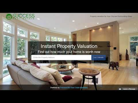 Home Valuation Landing Page Overview - Lead Generation
