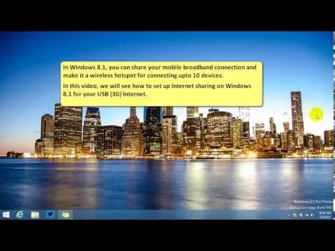 How to Create a Personal Hotspot in Windows 8.1