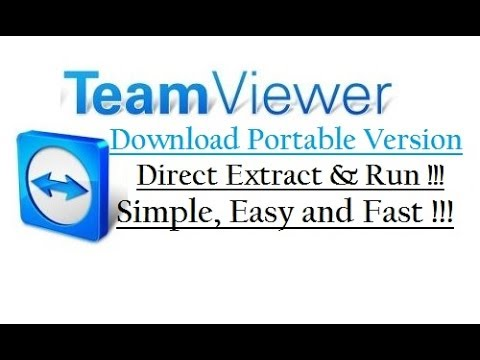 [Official] TeamViewer Portable Version - Direct Extract & Run - Fast and Easy