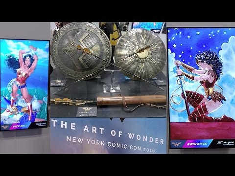 2016 New York Comic Con The Art Of Wonder Woman Exhibit NYCC Wonder Woman Movie Props Artwork Photos