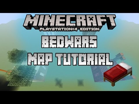 Minecraft PS4 how to build bedwars mini-game map 1 YEAR OF YOUTUBE!!!