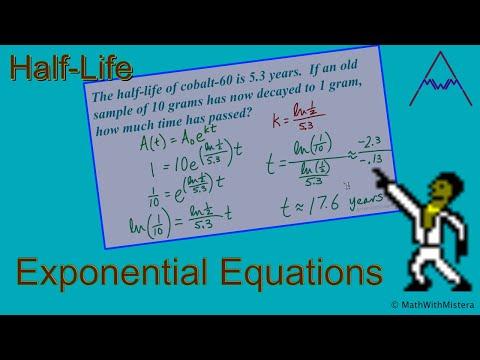 Exponential Equations: Half-Life Applications