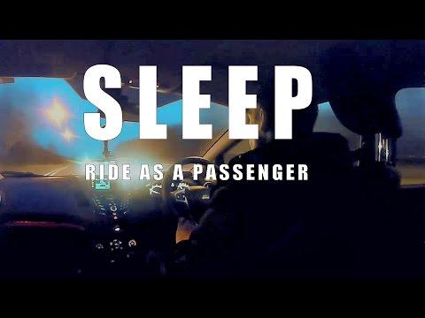 ASMR sleep sounds car ride at dawn