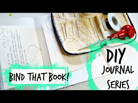 DIY Journal Tutorial for Beginners: Sewing and Binding Signatures & Inserts