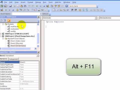 Copy Excel VBA Code into a Workbook