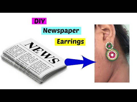 Best out of waste From Newspaper Earrings|how to make paper earrings|newspaper crafts