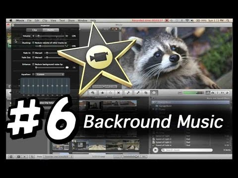 iMovie tutorials #6 - Adding background Music and adjusting over all volume