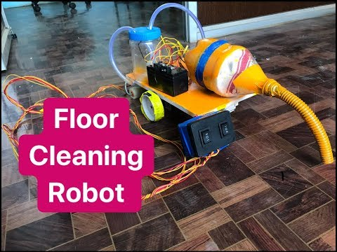 How to make Floor Cleaning Robot at home | DIY