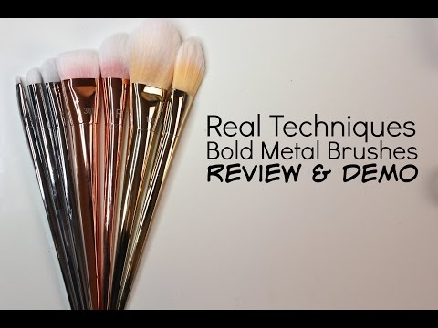 Real Techniques Bold Metal Brush Collection Review   Bailey B.