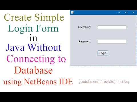 Create Simple Login Form in Java Without Connecting to Database[With Source Code]