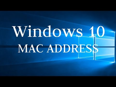 How to find Windows 10 PC MAC Address