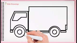 How To Draw Delivery Truck Easy Drawing Delivery Truck Very Easy And Step By Step Drawing