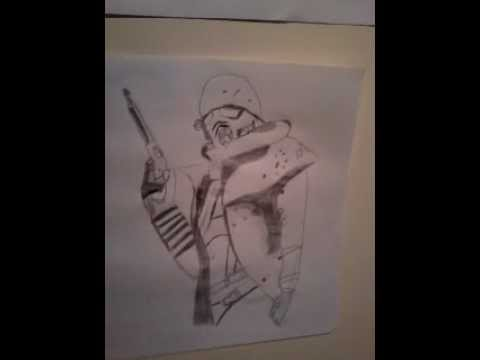 Fallout; New Vegas Ranger drawing