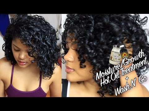 Curly Hair Moisture/Growth Hot Oil Treatment & Styling