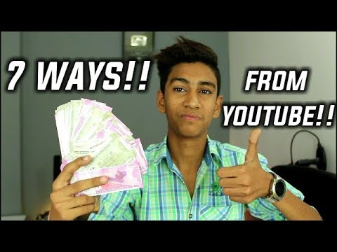 7 Ways To Earn Money With Youtube?🤑🤑