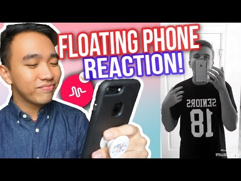 BEST FLOATING PHONE TRANSITION MUSICAL.LYS REACTION! #FloatTransition