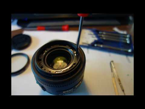 Nikon 35mm f/1.8 DX Lens Front Element Removal and Dust Cleaning